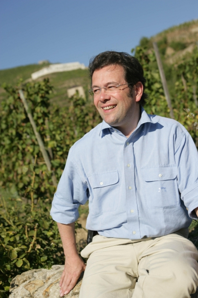 Michel Chapoutier in vineyard